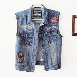 Ring of Fire   Jean Unisex Patchwork Vest